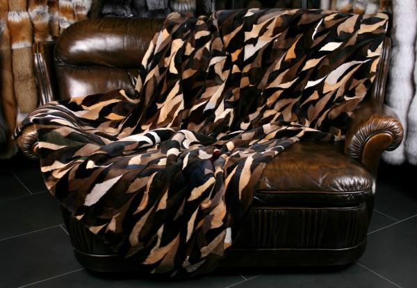Scandinavian Mink Fur Blanket - Thiliki - sheared quality