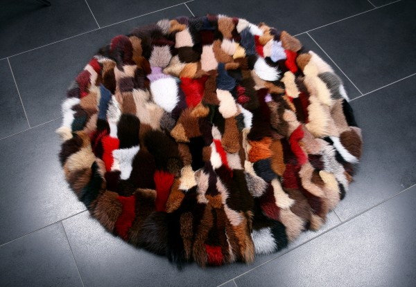 Fur Carpet Blue Fox multicolor