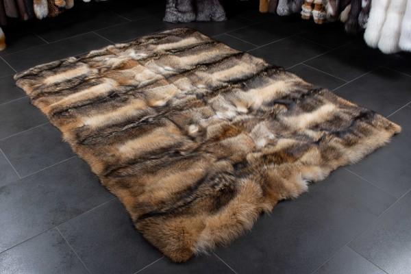 Canadian Coyote Fur Carpet made of Real Fur