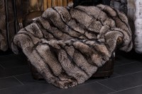 Silver Fox Fur Throw in brown-rose