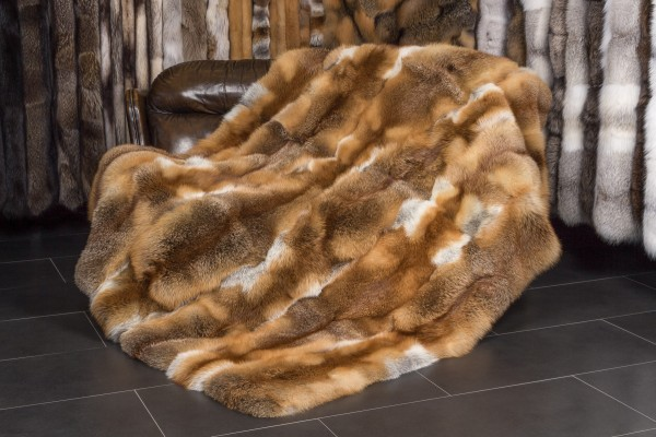 European Red Fox Fur Blanket