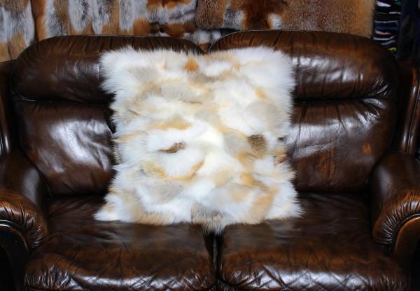 Golden Island Real Fur Fox Pillow