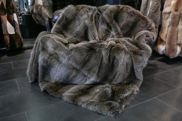 Special Raccoon Fur Blanket - Silver Type