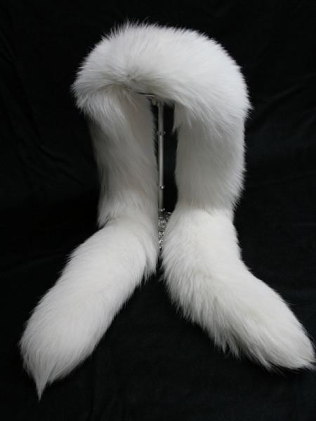 100% Genuine Handmade Shadow Fox Fur Scarf