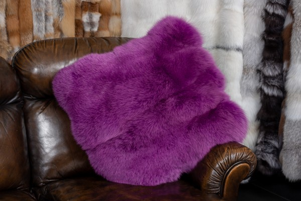 Pink Fox Fur Cushion