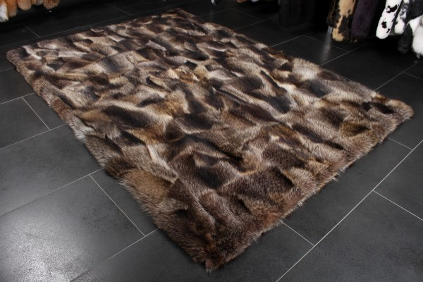 Canadian Raccoon Fur Rug