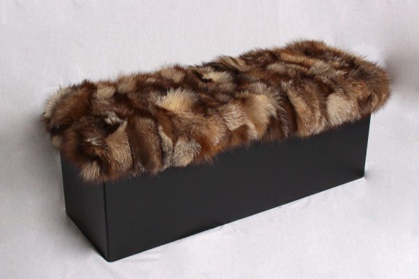 Special Sitting Cube with Silver Fox Fur