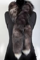 Boa de piel de zorros plateados escandinavos