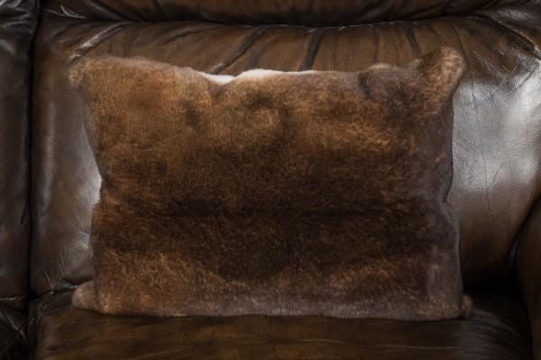 Soft Castor Rex Rabbit Fur Cushion