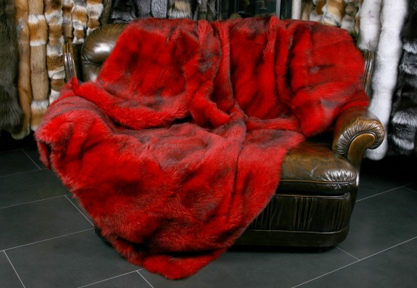 Red Fur Blanket from American Opossum