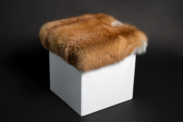 Sitting Chair with Real Canadian Red Fox Fur