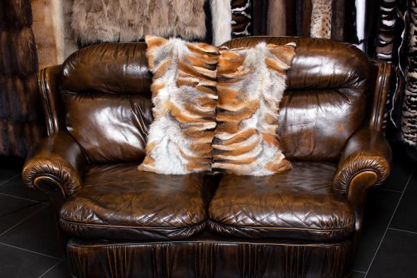 European Red Fox Paw Fur Pillow - Light Type
