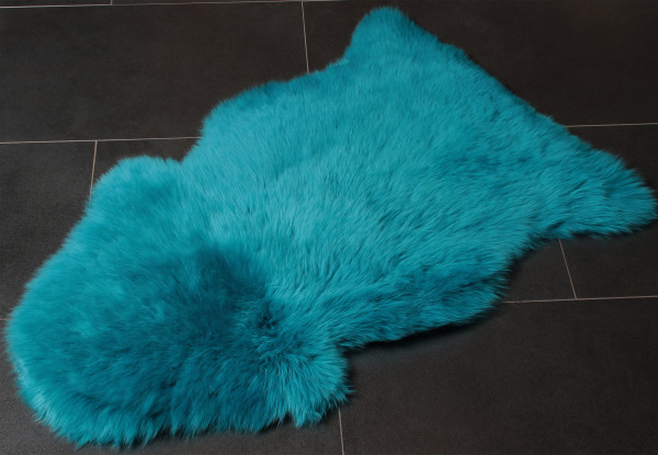 Special Real Fur Lamb Skin in Turquoise