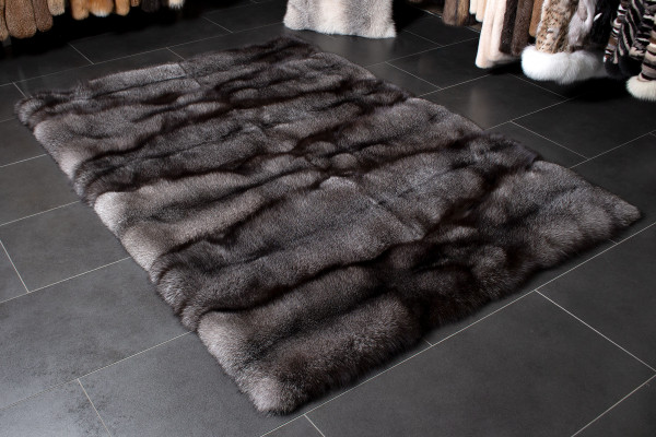 Blue Frost Fur Rug made with Scandinavian Real Fur