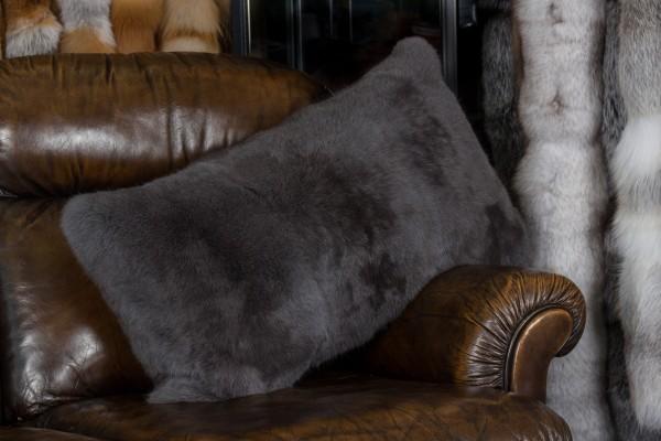 Rabbit Fur Cushion Vienna Blue