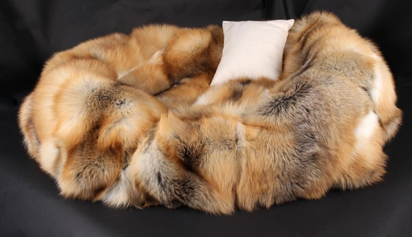 Dog Bed from Scandinavian Golden Island Foxes (SAGA Fur)