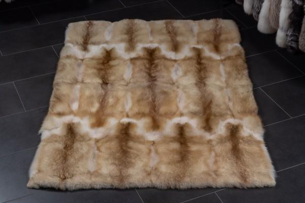Fur Carpet made of European Red Foxes Creme