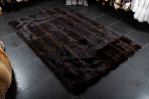 Natural Raccoon Fur Carpet - Wild Fur