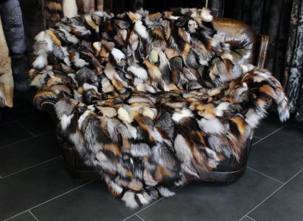 Snug Fox Pieces Fur Blanket in various natural tones
