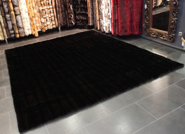 SAGA Mink Carpet in dark-brown