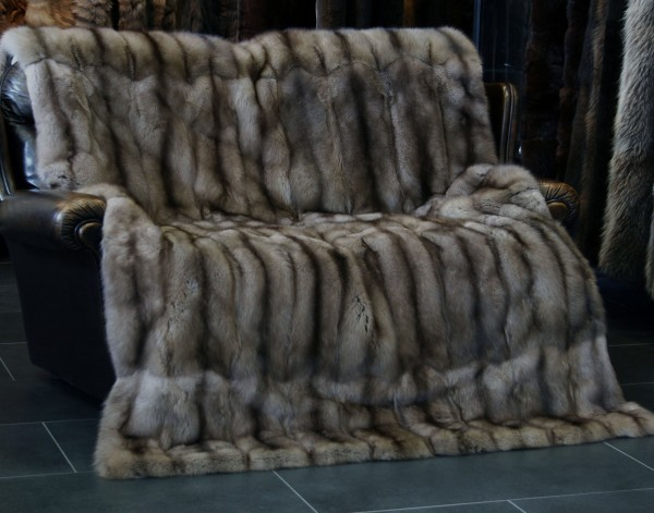 Sable Fur Blanket - Russian Bargusin Sable