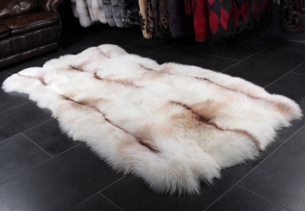 Sun Glo Fox Fur Rug