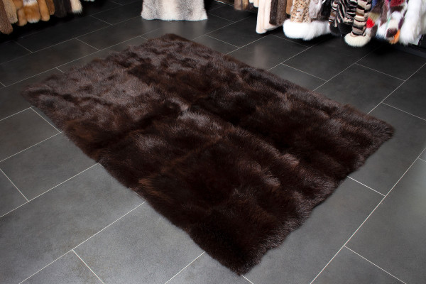 Cozy Brown Possum Fur Carpet