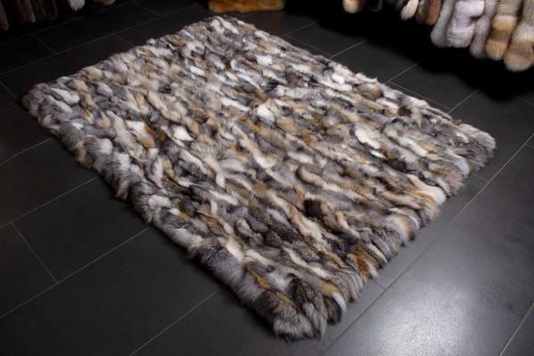 Cozy Real Fur Rug from Scandinavian Fox Sides