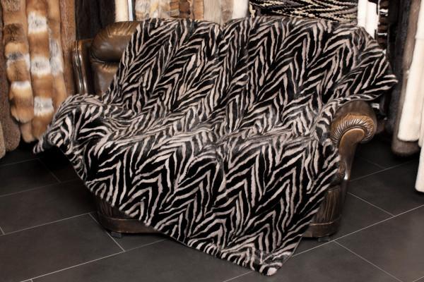 Modern Real Mink Fur Blanket Patchwork