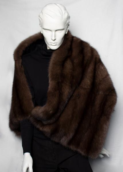 Genuine Russian Sable Fur Cape