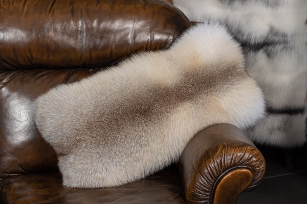 Fur Pillow made with Fawnlight Fox