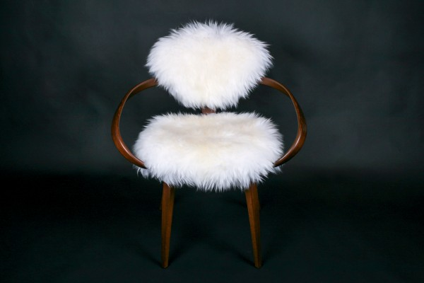 Cherner Chair (white Australian Lamb Fur)