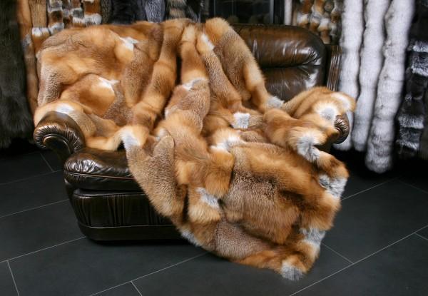 Canadian Red Fox fur blanket natural (Fur Harvesters)