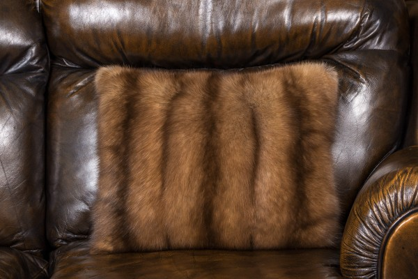 Russian sable pillow made from bargusin sable