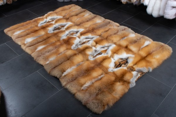 Red Fox Fur Carpet from Real Canadian Red Foxes