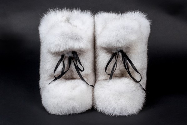 Blue Fox Fur Boots from Scandinavian Foxes