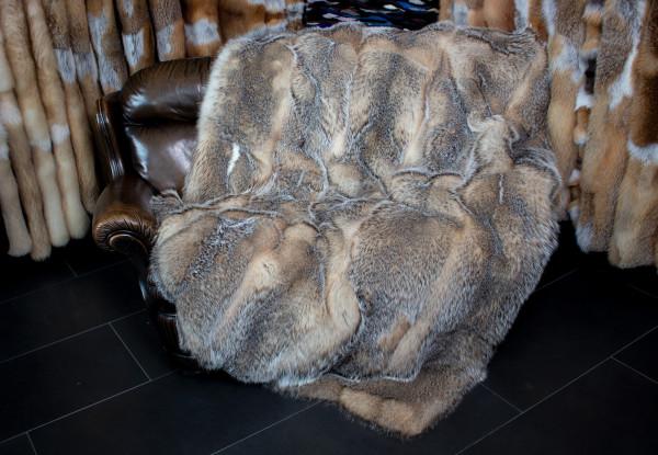 Cozy Silver Badger Fur Blanket