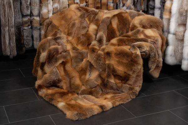 European Red Fox Fur Blanket Wild Fur