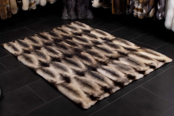 Canadian Fitch Fur Throw - Natural