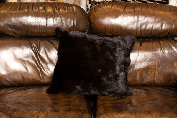 Canadian Fitch Fur Cushion - Genuine Fur