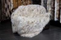 Candian Coyote Sides Fur Throw