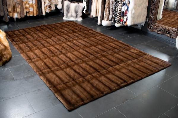 Genuine Mink Fur Carpet in Large