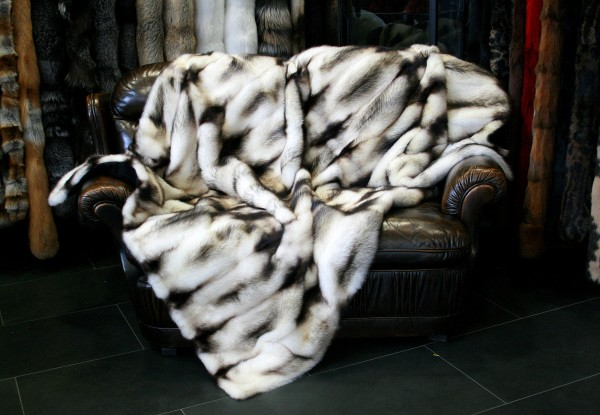 Canadian Fitch Fur Blanket