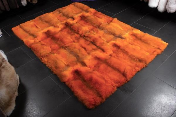 Red Fox Fur Carpet in Orange - Real Wild Fur