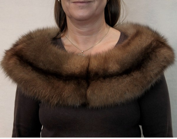 Noble Sable stola made of russien Barguzin Sable Fur