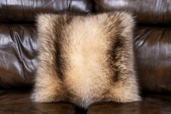 Fur Pillow Canadian Raccoon NAFA