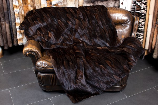 Real Fur Mink Throw from Mink Tails