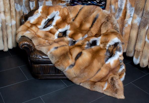 Cobija de piel de zorro rojo canadiense - estilo clásico