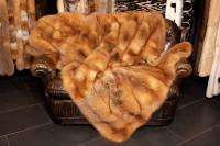 Manta de piel de zorro rojo canadiense