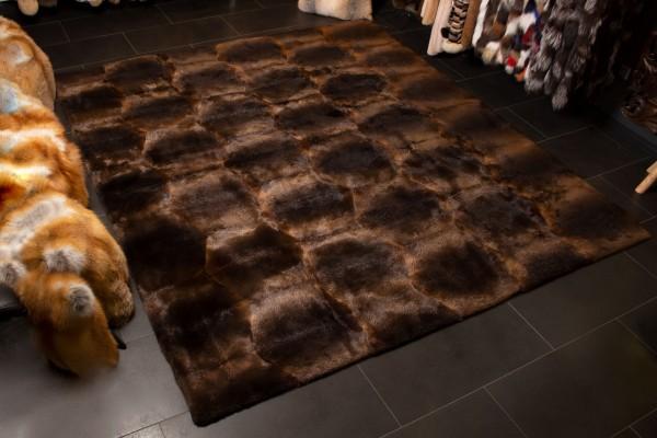 Beaver Fur Carpet for the Living Room